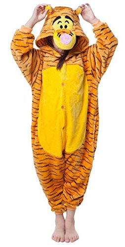 [Sunrise Childrens Pajamas Sleeping Wear Anime Cosplay Onesie Homewear (105#, Jump Tiger)] (Tiger Costumes Girls)