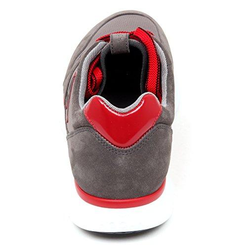 D0052 sneaker uomo HOGAN H254 T2015 scarpa H flock grigio shoe man Grigio/Rosso