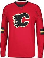 NHL Calgary Flames Men's Edge Long Sleeve Jersey Tee