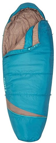 Kelty Women's Tuck EX 20 Degree Sleeping Bag, Deep Lake/Tropical Green