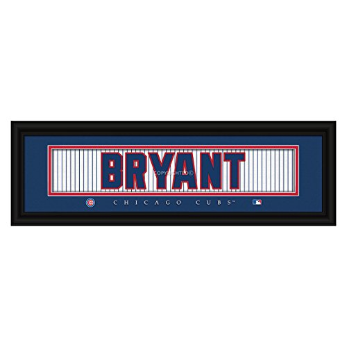 (MLB Chicago Cubs Kris Bryant Jersey Nameplate Framed Wall Art)