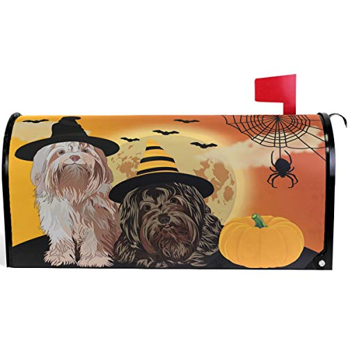 Harvest Mailbox - Pfrewn Happy Halloween Autumn Pumpkin Mailbox Cover Magnetic Oversized, Fall Harvest Dog Letter Post Box Cover Wrap Decoration Welcome Home Garden Outdoor 25.5