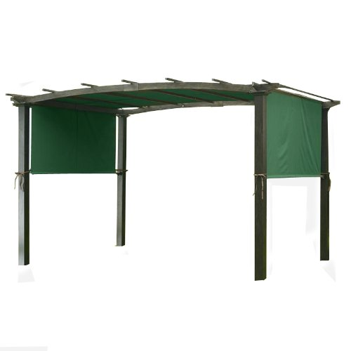Garden Winds Universal Replacement Canopy for Pergola Structures - RipLock - Green Spruce