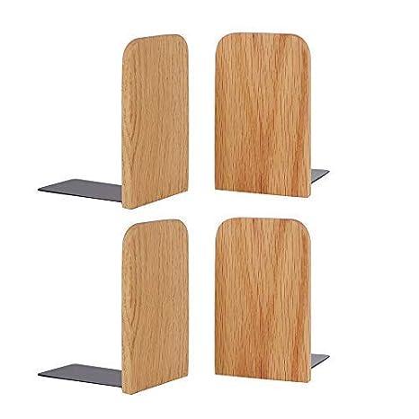 5.1x3.2 Muso Wood Walnut Wood Bookends,5.1x3.2,Set of 2 Walnut