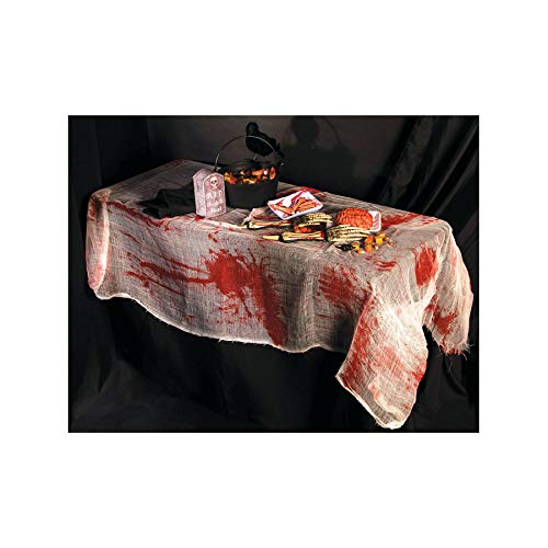Forum Novelties Party Supplies Bloody Gauze Table Cover, 60