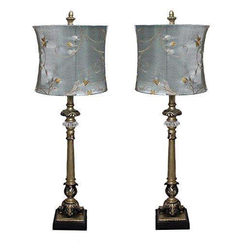 Casa Cortes 'Parisian Buffet' Hand-crafted Table Lamp (Set of (Coaster Set Metal Case)