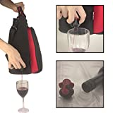Neoprene Wine & Drink Tote incl. Poly Carbon Glassware, Corkscrew & 2 x 3 Liter BYO Disposable Bladders. GECKORED Insulated Purse / Bag For Taking Your Favorite Drinks Anywhere - Multiple Uses.