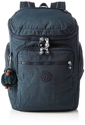 True laptop protection Large backpack Emerald Kipling with Blue Combo Blue Jeans UPGRADE 4qZx7qn1Up