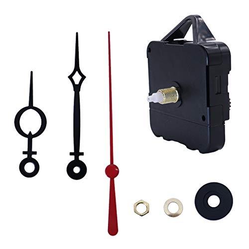 Prettyia 14mm Shaft Clock DIY Quartz Movement Replace Wall Clock DIY Aluminium Hands Set for Watchmaker Parts