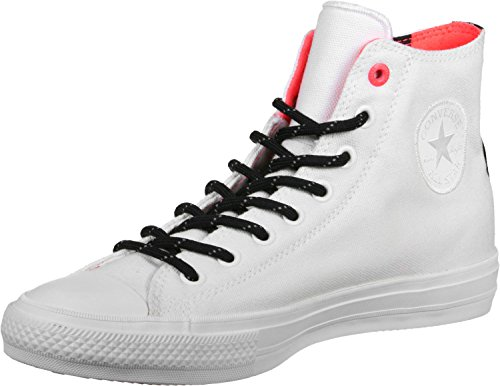 Converse Chuck Taylor II White Canvas Fashion Sneakers 11