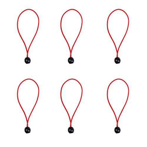無心ピーブもう一度6個セット 屋外 キャンプ テント バンジーコード ボールバンジー  ロープ 2色選べる