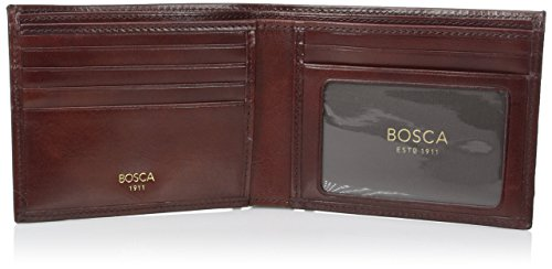 Men's Leather Wallet Old D I Brown Dark Bosca Leather Executive S4gwqHSd