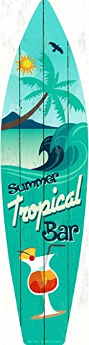 ovelty Surf Board Sign SB-020 (Tropical Surfboard)