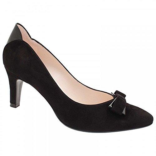 Peter Kaiser Balita Mid Heel Court Shoe With Bow Black Multi
