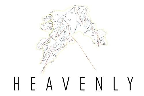 Heavenly Poster, Heavenly Ski Resort Poster, Heavenly Art Print, Heavenly Trail Map, Heavenly Trail Map Art, Heavenly Wall Art Poster, Heavenly Colorado Decorative Map, Heavenly Gift, - Heavenly Map