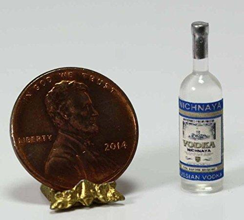 Dollhouse Miniature Bottle of Nichnaya Russian Vodka by Hudson River Miniatures