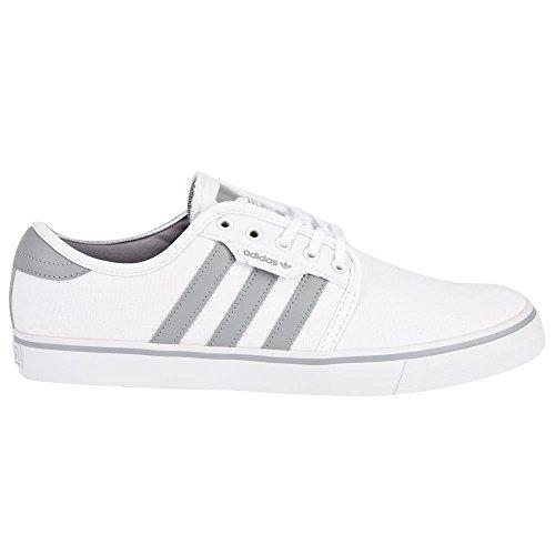 adidas skateboard uomini bianchi / metà grigio / bianco - 8 d medio