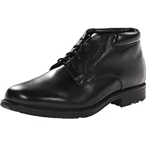 Rockport Men's Essential Details Water Proof Chukka Boot,Black,10 W US