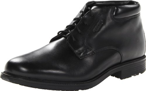 Rockport Men's Essential Details Waterproof Dress Chukka Boot,Black,10.5 W US