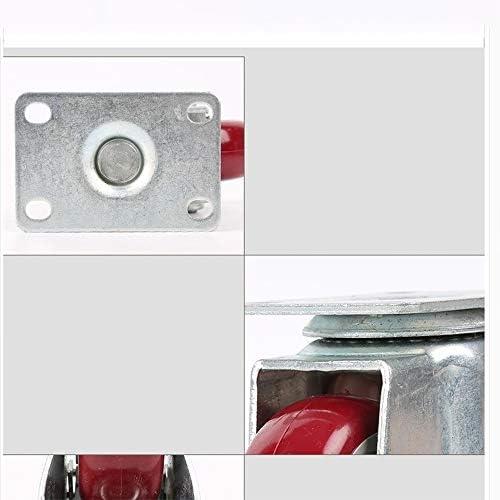 ChenCheng 家具ムーバーゴムホイールソリッドソリッドゴムホイール指向性ホイールユニバーサルホイール小型ホイールアクスルプッシュホイール2方向性ホイール2ユニバーサルホイール household products (Size : 15X12.5cm)