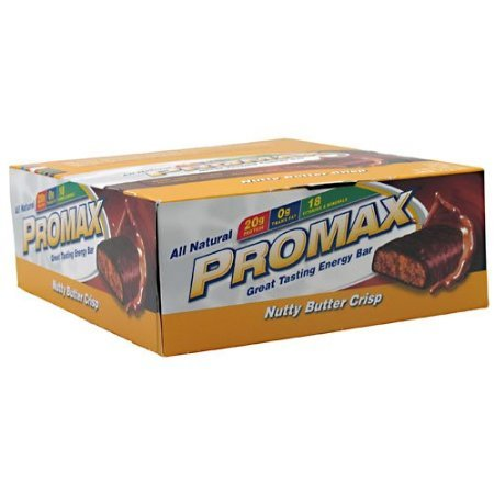 Promax Energy Bar Nutty Butter Crisp – 12 – 2.64 oz (75 g) bars [31.68 oz (900 g)]