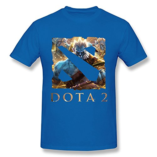 (WXTEE Men's Dota 2 Game World League 2015 T-shirt Size L)