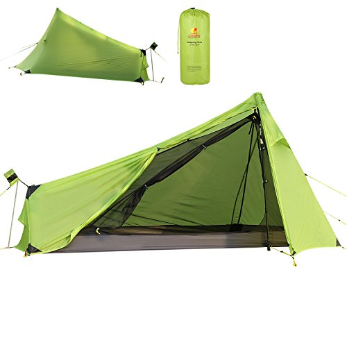 Andake 780g Ultralight Tent, Waterproof 1 Person Camping Tent, Double-Wall...