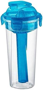 Coqueteleira Plástica Com Travas E Acessórios Sanremo Azul