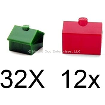 Image result for tiny wood motels Monopoly type, different colors