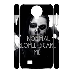 Normal people scare me Design Unique Customized 3D Hard Case Cover for SamSung Galaxy S4 I9500, Normal people scare me Galaxy S4 I9500 3D Cover Case