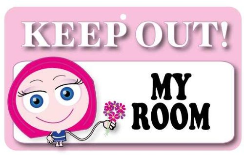 Keep Out Door Sign - My Room (Girls) Instant Gifts International