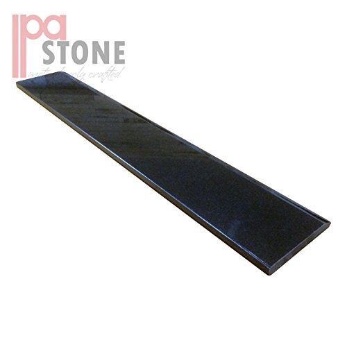 Single Hollywood Granite Door Saddle - Black Absolute Threshold - 36 x 6 Inch by IPA STONE