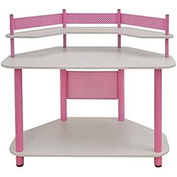 Amazon Com Kings Brand Pink Finish Corner Workstation