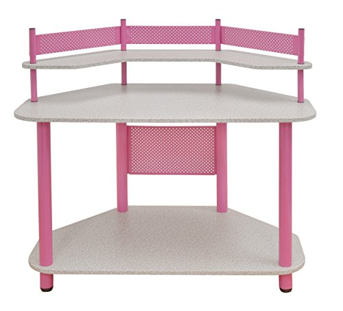 Calico Designs 55122 Study Corner Desk, Pink by Calico Designs