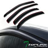 Topline Autopart In-Channel Sun Wind Rain Guard Vent Shade Smoke Deflectors Window Visors 4P 95-00 Ford Contour / Mercury Mystique