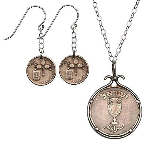 Set Of Copper Coins And Dangle Earrings Sterling Silver 27.5