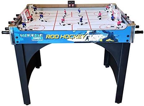 ManCave Games - Juego de hockey electrónico de 40 pulgadas Hockey de mesa de cabeza a cabeza con puntuación manual. Gran tamaño, durabilidad y más fácil para que los niños jueguen que