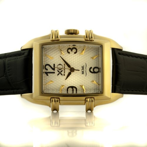 ng DNA Tank Watch Yellow Gold Case White Dial Black Strap 03T (Dial Yellow Gold Case)