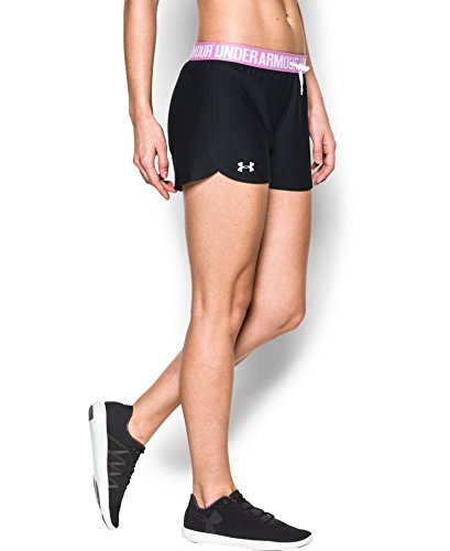 Under Armour Women's Play Up Shorts, Black/Verve Violet, X-Large