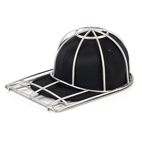 BallcapBuddy Cap Washer - hat washer-baseball cap cleaner- The Original baseball cap cleaning hat rack (Silver)