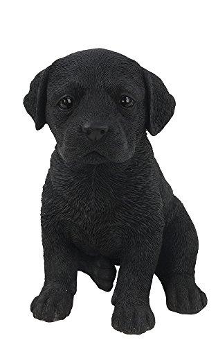 Hi-Line Gift Ltd Labrador Puppy Statue, Black