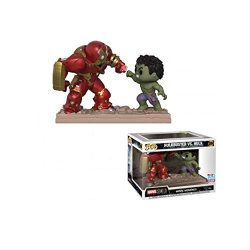 POP! Funko Marvel Studios: The First Ten Years - Hulkbuster vs Hulk Movie Moments Vinyl Figure 2-Pack]()