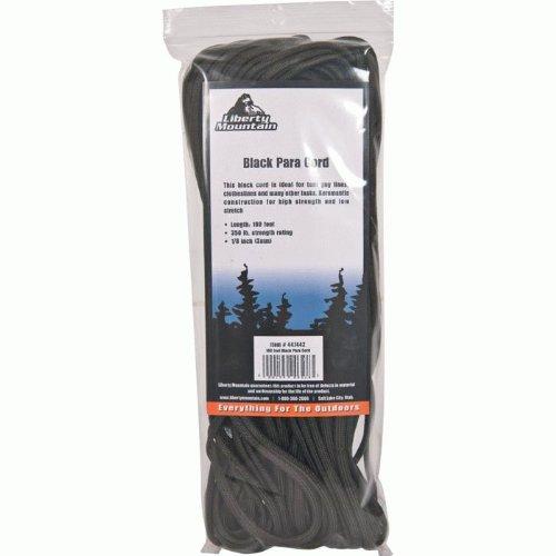 Liberty Mountain Black Para Cord 100 Ft, Outdoor Stuffs