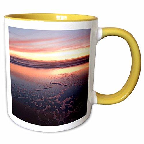 3dRose Danita Delimont - Beaches - California, San Francisco, Golden Gate NRA beach - US05 IHO0166 - Inger Hogstrom - 11oz Two-Tone Yellow Mug - Area Outlets Bay San Francisco