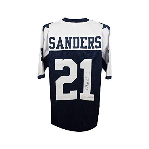 860d6dd39 Deion Sanders Autographed Dallas Cowboys Custom Thanksgiving Football  Jersey JSA