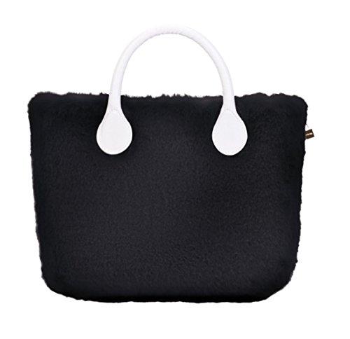 Lapin Cover in Bag O Ecopelliccia Mini Nero Xn8Exg8w6q