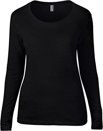 Anvil - Camiseta de manga larga - para mujer plata