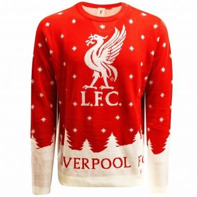 Liverpool Soccer T-shirts - Unisex Liverpool FC Knitted Christmas Jumper