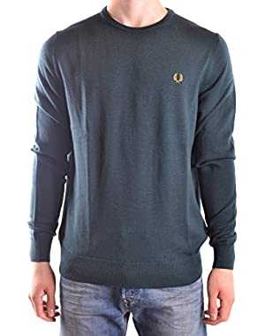 Men's MCBI128184O Green Wool Sweater