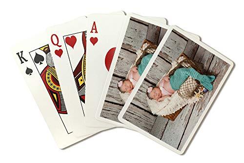 Newborn Mermaid Photograph A-91524 (Playing Card Deck - 52 Card Poker Size with (Best Newborn Gins)